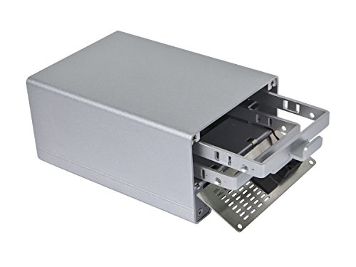 Monoprice Dual Bay Thunderbolt 2 Cactus Bridge Enclosure with Cable - Silver (110943) by Monoprice (Image #2)