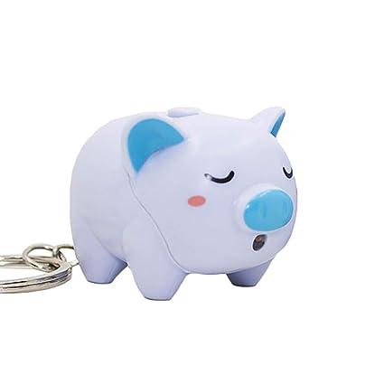 Amazon.com: Super1798 - Llavero con diseño de cerdo con luz ...
