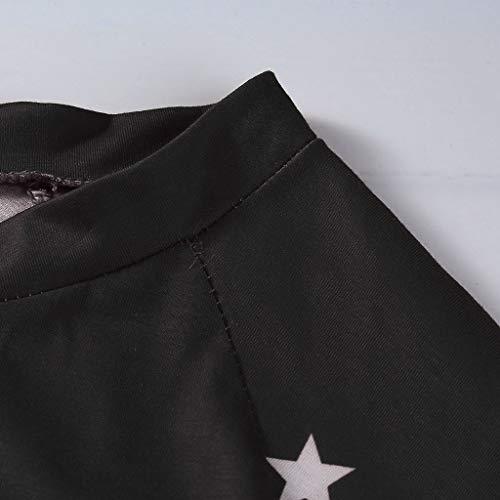 Donna Unita Polpqed Casual Manica Lunga Spalline Camicette Camicia Stelle Maglione Cotone Top Da Nero Moda Maglietta Tinta Motivo Senza Vendita Calda A qR5jL4A3