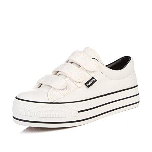 zapatos de lona de mujeres/Dulces y zapatos del estudiante bajo/Zapatos de plataforma mujer suela gruesa de color sólido B