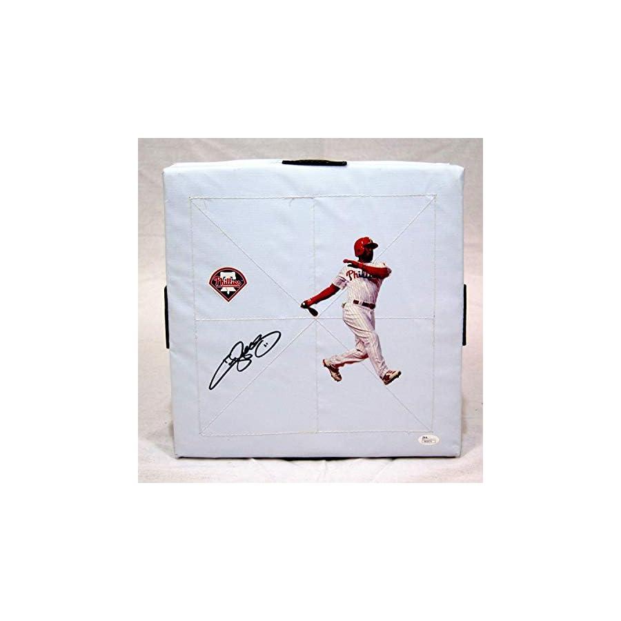 Jimmy Rollins Philadelphia Phillies Autographed Signed Base JSA