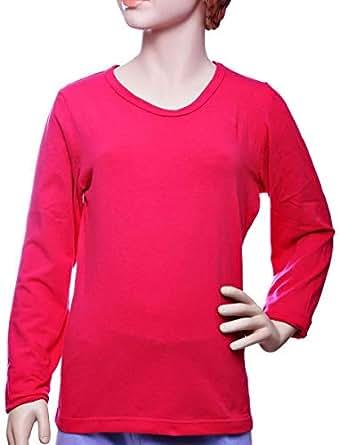 Mariposa Pink Mixed Round Neck T-Shirt For Girls