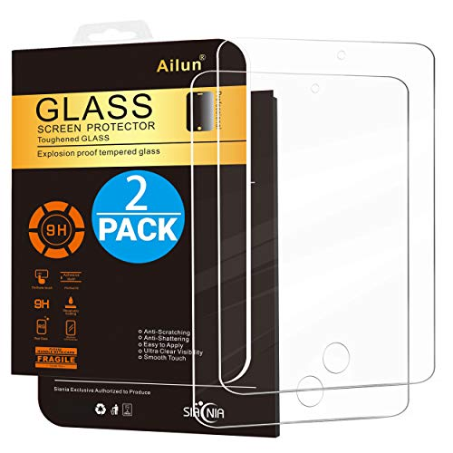 Ailun Screen Protector Compatible with iPad Mini 1 2 3 Tempered Glass 9H Hardness 2Pack Compatible with Apple iPad Mini 1 2 3 Ultra Clear 2.5D Edge Anti Scratch Case Friendly (1 Case Direction Touch Ipod)