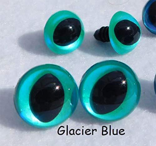 Glacier Blue Safety Eyes Cat Eyes Sew Crochet Amiguruml Knit Dragon Frog Monster, 4 Pair (10mm) Crochet Knit Sew Craft