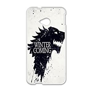 Happy Winter Coming Fashion Comstom Plastic case cover For HTC One M7 by icecream design