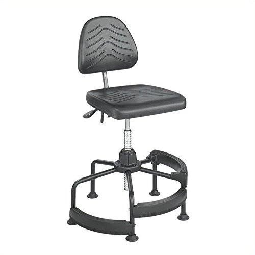 Safco Task Master Deluxe Industrial Drafting Chair in Dark Grey