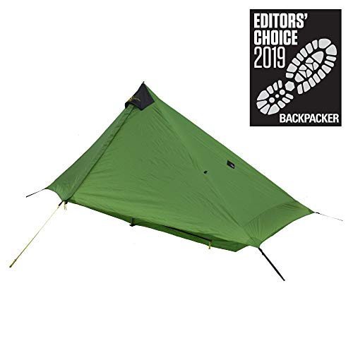 Six Moon Designs Lunar Solo - 26 oz. Green, 1 Person Tent - 2019 Version (Best Solo Backpacking Tent)