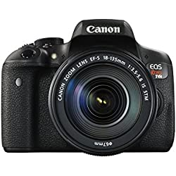 Canon EOS Rebel T6i Digital SLR with EF-S 18-135mm IS STM Lens - Wi-Fi Enabled