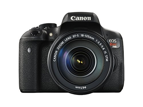 Canon EOS Rebel T6i Digital SLR with EF-S 18-135mm IS STM Lens – Wi-Fi Enabled