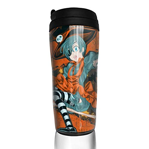 (Angela R Mathews Black Butler-Halloween 12Ounce(350ml) Food Grade ABS Anime Thermos Coffee Cup with Sealed Lid Coffee Mug Tea)