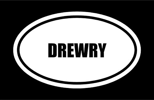 6-die-cut-white-vinyl-drewry-name-oval-euro-style-vinyl-decal-sticker