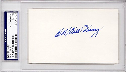 Bill Terry Autographed Signed New York Giants 3x5 inch Index Card - 1933 World Series Champion - Deceased 1989 - PSA/DNA Authenticity (COA) - PSA Slabbed ()
