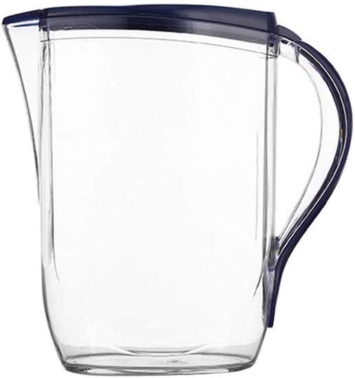 Hemoton 1 Unidad de Jarra de Jugo de Plástico Jarra de Agua de Plástico Jarra de Jugo Transparente para Servir Mezcla de Bebidas (2L)