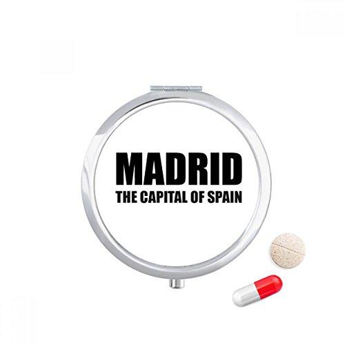 Madrid The Capital Of Spain Travel Pocket Pill case Medicine Drug Storage Box Dispenser Mirror Gift by DIYthinker