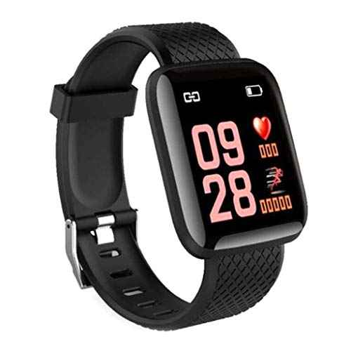 Kekailu Smart Bracelet,D13 116 Plus 1.3inch OLED Screen,Blood Pressure Heart Rate Monitor,Find Watch,Find Phone,Motion Gesture,Bluetooth 4.0,Smart Watch Wristband for Kids Women and Men