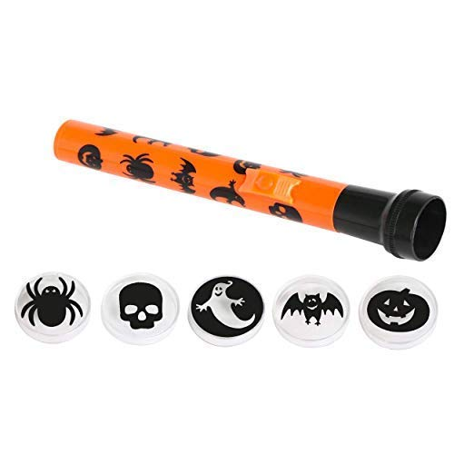 por Robelli,Naranja/Negro niños Halloween proyector antorcha con ...