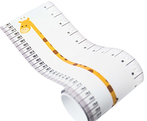 Kids Rule Giraffe And Monkey Plastic Roll-Up Height Measuring Chart Measures From Birth To Adult. ...