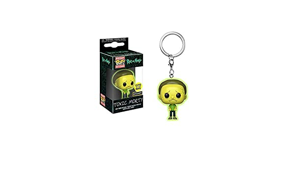 POCKET POP Funko Rick and Morty Toxic Morty Glow in The Dark Exclusive Keychain Keyring