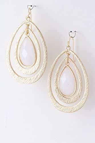 TRENDY FASHION JEWELRY LAYERED DROPLET JEWEL EARRINGS BY FASHION DESTINATION