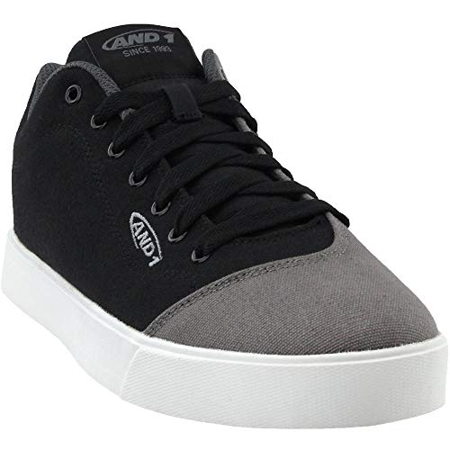 AND 1 Men's tc ls Low Basketball Shoe, Black/Castlerock/White, 9 M US