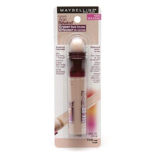Maybelline Instant Age Rewind Eraser Dark Circles Treatment Concealer, Fair 0.2 oz (Pack of 2)