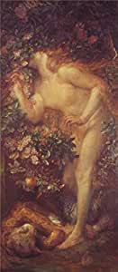 Oil painting 'George Frederic Watts - Eve Tempted,19th century' printing on Cotton Canvas , 8x18 inch / 20x47 cm ,the best Laundry Room gallery art and Home decoration and Gifts is this Imitations Art DecorativeCanvas Prints