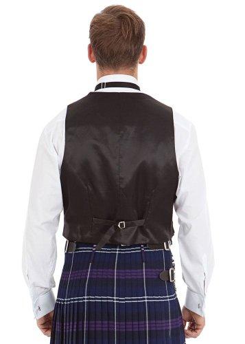 Kilt Society Mens Scottish Black Prince Charlie Kilt Jacket & Vest 52 Regular by Kilt Society (Image #1)