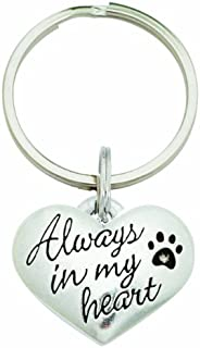 product image for Rockin' Doggie Pewter Keychain, Always in My Heart