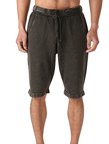 FORBIDEFENSE Casual Men's Bermuda Classic Fit Cotton Gym Shorts With Pockets,Bodybuilding Short Pants With Drawstring Design Cotton Short