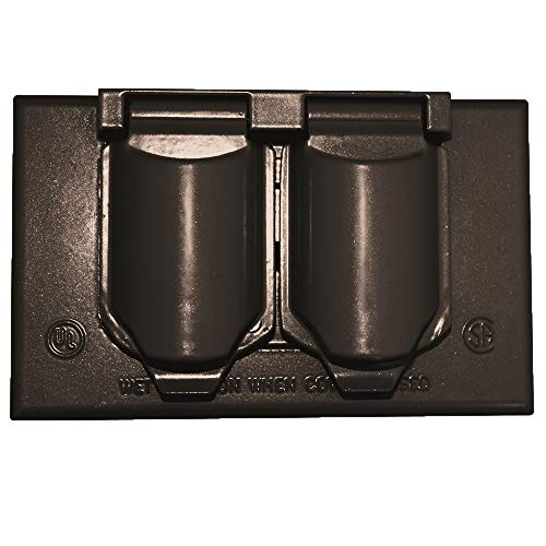 - Sigma Electric 14245BR 1-Gang Horizontal Duplex Cover, Bronze