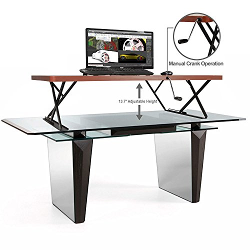 Halter Manual Adjustable Height Table Top Sit / Stand Desk (Cherry) by Halter (Image #4)