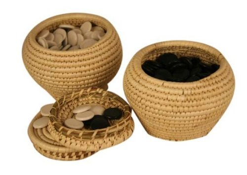 Go Game Stones And Grass Knitted Holder Bowls Set (Game Go Stones)