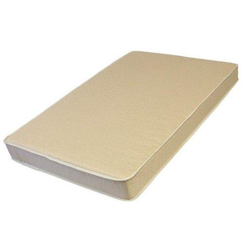 L. A. BABY 3508-ORGJ 3-Inch Thick Compact Crib Mattress With Organic Cotton Layer- Ecru