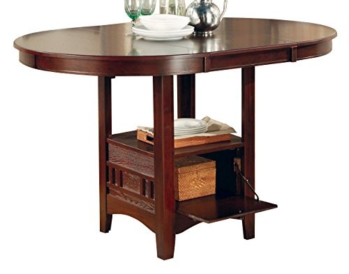 Lavon Counter Height Table Warm Brown (Top Counter Glass Table Round Height)