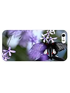 3d Full Wrap Case for iPhone 5/5s Animal Butterfly On Flower55