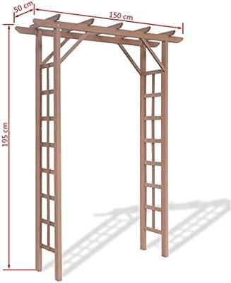 Festnight - Arco de madera para jardín con parte superior plana ...