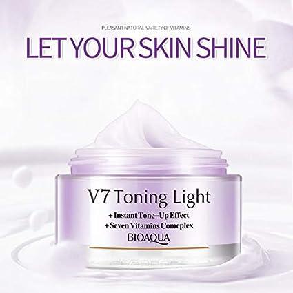 Portal Cool BIOAQUA V7 Crema blanqueadora de vitaminas Reparación efectiva Piel áspera Cuidado de