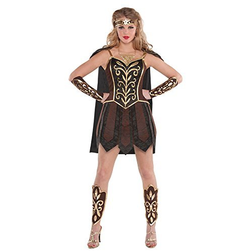 L Ladies Womens Warrior Princess Costume for Roman Fancy Dress Outfit by Amscan (Roman Outfits For Womens)