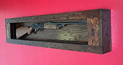 Gun Rack, Wall Mounted, Wall Hung,. Distressed Wood Gun Display. Gun