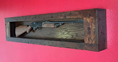 Gun Rack, Wall Mounted, Wall hung,. Distressed Wood Gun Display. Gun Wall Display.Solid Wood Gun cabinet.Gun Display,All Cedar Wood.Wall Mounted Case.