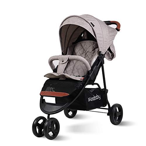 SpringBuds Baby Jogger City Tour Single Stroller Shock-Resistant 360 Ultralight Jogging Pushchair