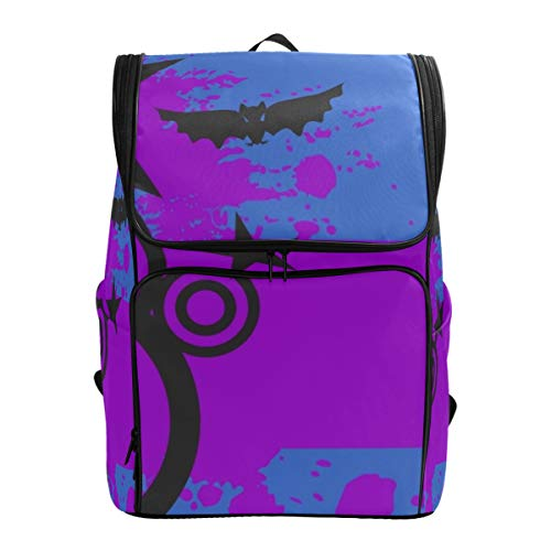 YCHY Backpack Skeleton Cartoon Halloween Background Vector Format Lightweight Travel Bag Hiking Knapsack College Student School Bookbag Travel Daypack for men women