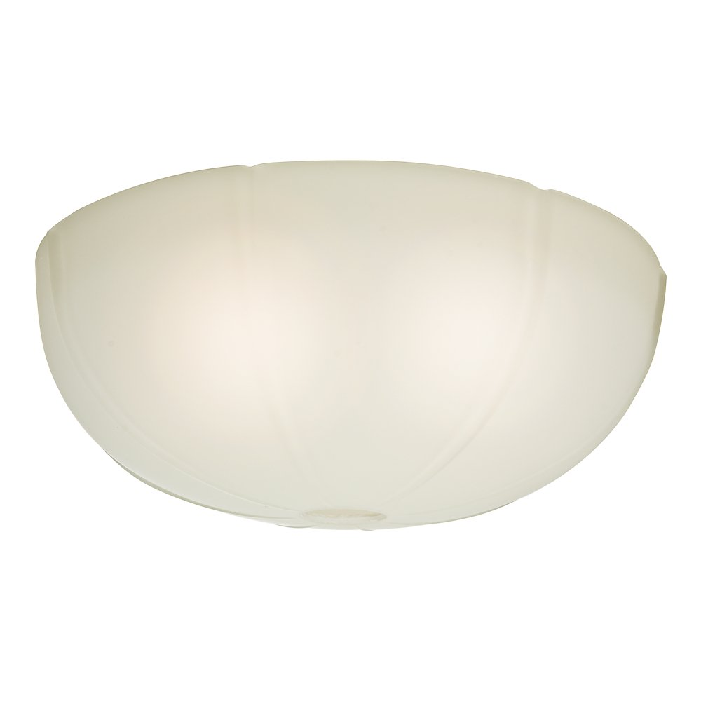 Casablanca 99061 Transitional Ribbed Glass Bowl for 99023, Cased White