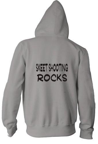 Skeet Shooting Rocks Adult Zippered Jacket ASH GREY LARGE [Apparel]
