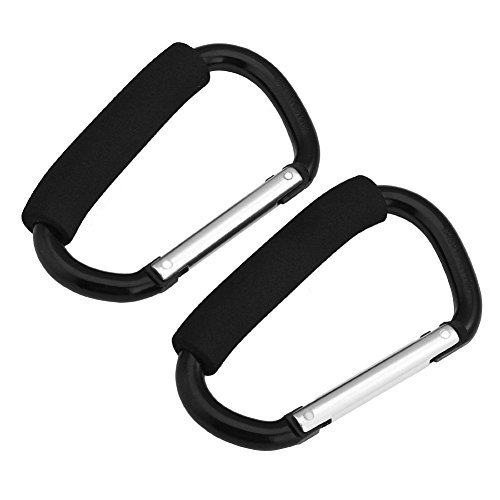 Winstory 2x Large Buggy Mummy Clip Pram Pushchair Shopping Bag Hook Carabiner Parent Organiser - Purpose Mighty Cart