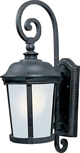 Maxim 86095FSBZ Dover EE 1-Light Outdoor Wall Lantern, Bronze Finish, Frosted Seedy Glass, GU24 Fluorescent Fluorescent Bulb , 40W Max., Wet Safety Rating, Standard Dimmable, Glass Shade Material, 1344 Rated ()