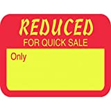 """Reduced Multi-Purpose Price Tag Labels 1 1/4""""L x 15/16""""H Red /Yellow"""