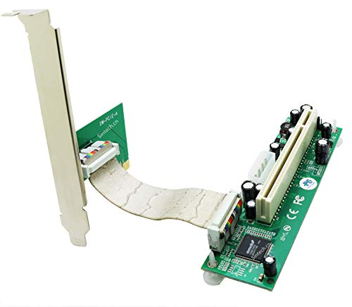 Sintech PCI-E Express 1X to PCI 32bits Adapter with Flex Cable ... (with White Molex Power)