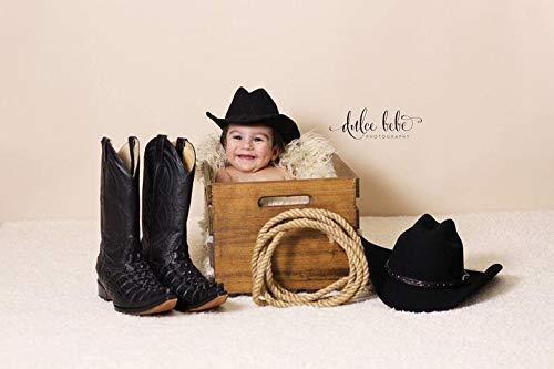 Child Cowboy Hat Newborn Cowboy Hat Black Felt Baby Cowboy Hat Infant Cowboy Hat