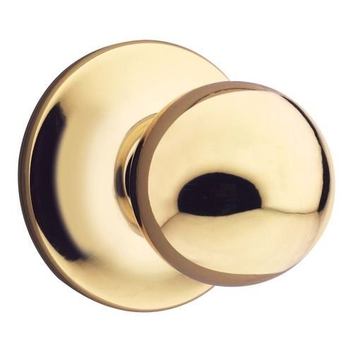 Brass Polo Double Cylinder - Kwikset 967P-3S Polo Interior Double Cylinder Handleset Trim Smart Key Bright Brass Finish